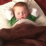 My grandson knows sleep in important...