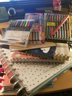 A few of my favorite journals and pens and planners