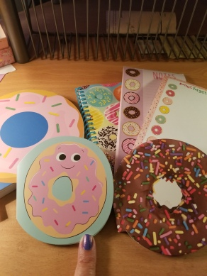 I may have a collection of doughnut notebooks...because well - they have doughnuts on them!